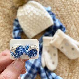 Kittery Knot in blue/silver   Etsy (US)
