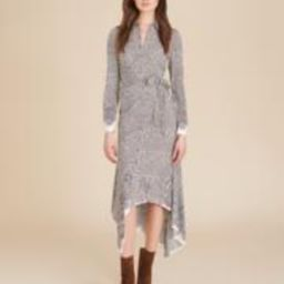 Ondine Houndstooth Wrap Dress | Veronica Beard