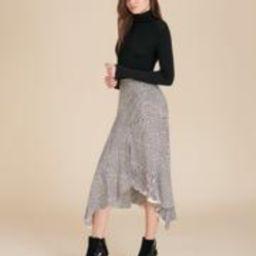 Mac Houndstooth Midi Skirt | Veronica Beard