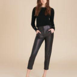 Sethe High-Rise Leather Pant | Veronica Beard