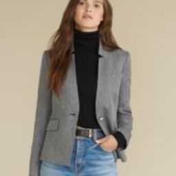 Farley Herringbone Dickey Jacket | Veronica Beard