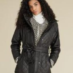 Bonny Quilted Leather Coat | Veronica Beard