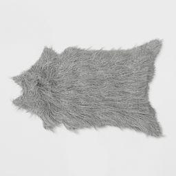Mongolian Faux Fur Rug Gray - Project 62   Target