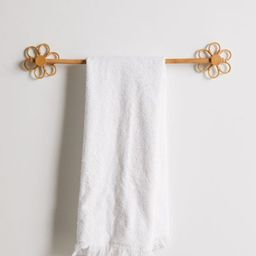 Daisy Rattan Towel Bar | Urban Outfitters (US and RoW)