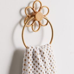 Daisy Rattan Towel Ring | Urban Outfitters (US and RoW)