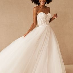 Wtoo by Watters Clarinda Strapless Lace Gown   BHLDN