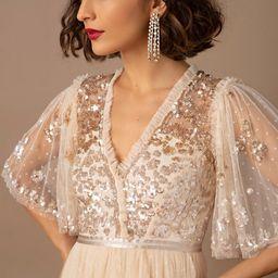 Needle & Thread Patchwork Sequin Dress   BHLDN