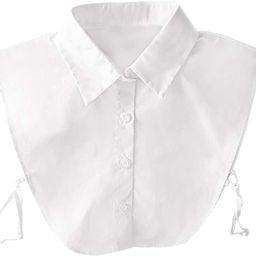 OL Women's Solid Color Collar Dickey Half Shirt Detachable False Collar White | Amazon (US)