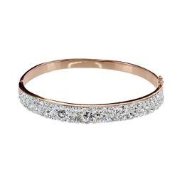 Swarovski Crystal Bangle Bracelet in Rose or Rhodium   Roma Designer Jewelry