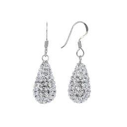 Swarovski Crystal 3D Teardrop Earrings   Roma Designer Jewelry