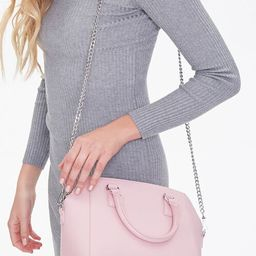 Square Faux Leather Satchel   Forever 21 (US)