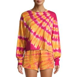 No Boundaries Juniors Cropped Tie Dye Sweatshirt   Walmart (US)