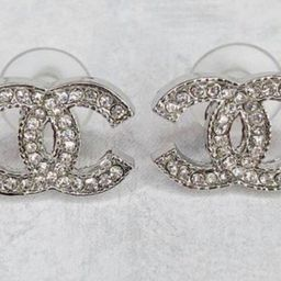 Cc rhinestone earrings | Etsy (US)