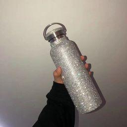 BlingPink Bling Dazzling Stylish Rhinestone Refillable Reusable Stainless Steel Water Bottle   Etsy (US)