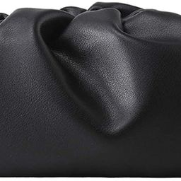 Women Dumplings Crossbody Bag Retro Ruched Shoulder Bag Fashion Tide Handbag Pouch Clutch Bag | Amazon (US)