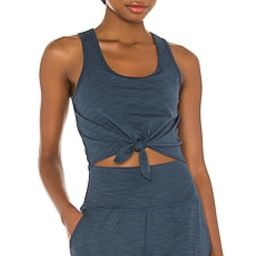 Beyond Yoga Favorite Lounge Cropped Tank in Blue Horizon Heather from Revolve.com   Revolve Clothing (Global)