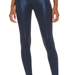 Beyond Yoga Twinkle HW Midi Legging in Nocturnal Navy & Shiny Navy Twinkle from Revolve.com   Revolve Clothing (Global)