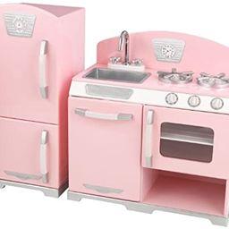 Kidkraft Retro Kitchen and Refrigerator in Pink   Amazon (US)