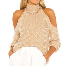 MAJORELLE Estrid Cold Shoulder Sweater in Tan. - size S (also in L) | Revolve Clothing (Global)