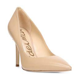 Sam Edelman Women's Hazel Leather Pumps - Nude - Size 7 | Saks Fifth Avenue