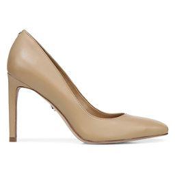 Sam Edelman Women's Beth Square-Toe Leather Pumps - Nude - Size 7.5 | Saks Fifth Avenue