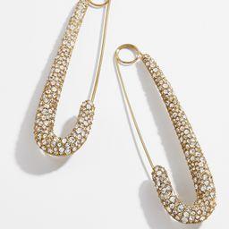 BaubleBar x Montserrat Large Pave Safety Pin Earrings | BaubleBar (US)