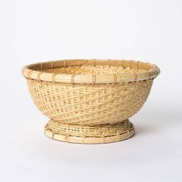 """5"""" x 10"""" Round Bamboo Woven Bowl Natural - Threshold™ designed with Studio McGee 