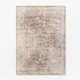 5'x7' Woven Persian Border Rug Rust - Threshold™ designed with Studio McGee | Target