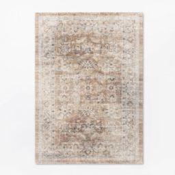 5'x7' Woven Persian Border Rug Rust - Threshold™ designed with Studio McGee   Target