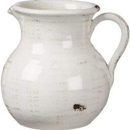 Sullivans White Ceramic Vase, Distressed White Pitcher for Rustic Home Decor, 8 x 9 Inches (CM251... | Amazon (US)