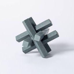 "6"" Decorative Soapstone Puzzle Figurine Gray - Threshold™ designed with Studio McGee | Target"