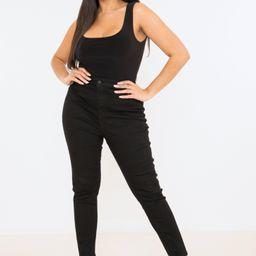 Plus Size Black Seam Free Scoop Neck Bodysuit | Missguided (US & CA)