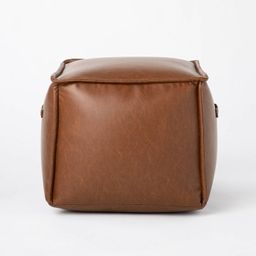 Evanston Leather Cube Pouf - Threshold™ designed with Studio McGee | Target