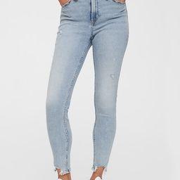 High Rise Universal Legging Jeans with Raw Hem   Gap Factory