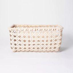 "11"" x 8"" Rattan Turntum Weave Basket Natural - Threshold™ designed with Studio McGee   Target"