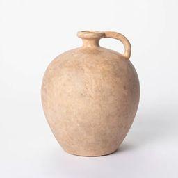 "8"" x 7"" Weathered Jug Vase Brown - Threshold™ designed with Studio McGee   Target"