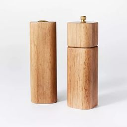 2pc Wood Salt and Pepper Shaker Set – Threshold™ designed with Studio McGee   Target
