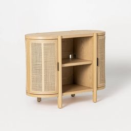 Portola Hills Caned Door Console with Shelves Natural - Threshold™ designed with Studio McGee | Target