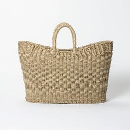 """9"""" x 16"""" Tapered Oval Seagrass Basket Natural - Threshold™ designed with Studio McGee 