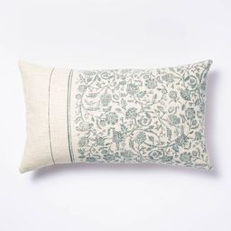 Floral Striped Throw Pillow Blue/Cream - Threshold™ designed with Studio McGee | Target