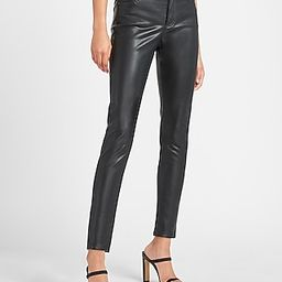 High Waisted Vegan Leather Skinny Ankle Pant   Express
