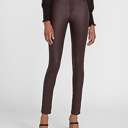 High Waisted Coated Maroon Skinny Jeans   Express