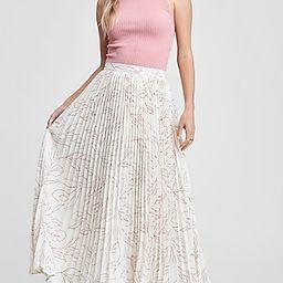 En Saison Floral Print High Waisted Pleated Maxi Skirt   Express