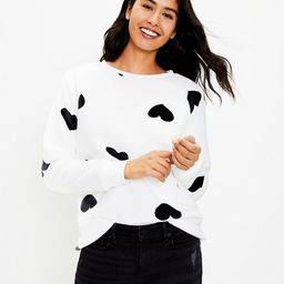 Faux Fur Heart Sweatshirt | LOFT