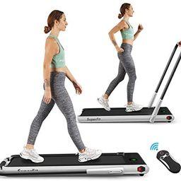 Amazon.com : Goplus 2 in 1 Folding Treadmill, 2.25HP Under Desk Electric Treadmill, Installation-... | Amazon (US)