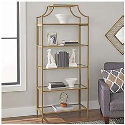 Amazon.com: Better Homes and Gardens Nola 5-Open Shelves Bookcase, (Gold, Bookcase): Furniture & ... | Amazon (US)