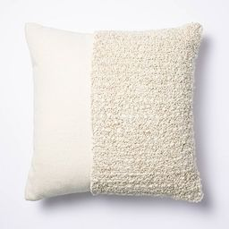 Tufted Square Throw Pillow Taupe - Threshold™ designed with Studio McGee | Target