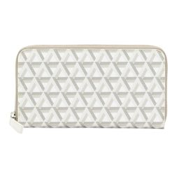Ikon Large Coated Canvas Leather Trimmed Zip Around Wallet | TJ Maxx