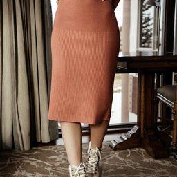 Della Set Skirt in Salmon | Bohme