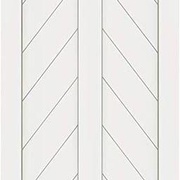 DIYHD 24X84in Fish Bone V Shape Sliding Barn Slab MDF Solid Core Primed Interior Door Panel(Disas... | Amazon (US)